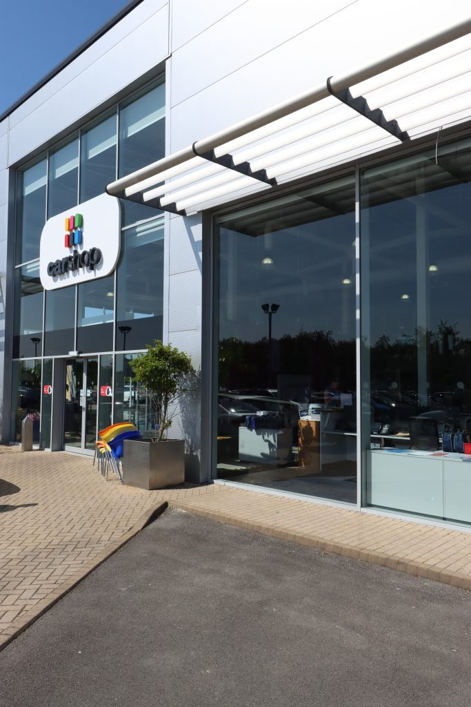 Completed Car Showroom Repair Using Glazing Robot