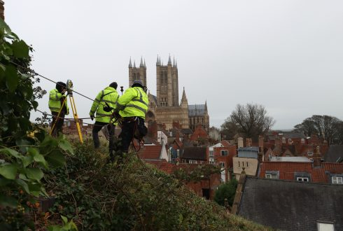 Embankment Survey – Lincoln Castle